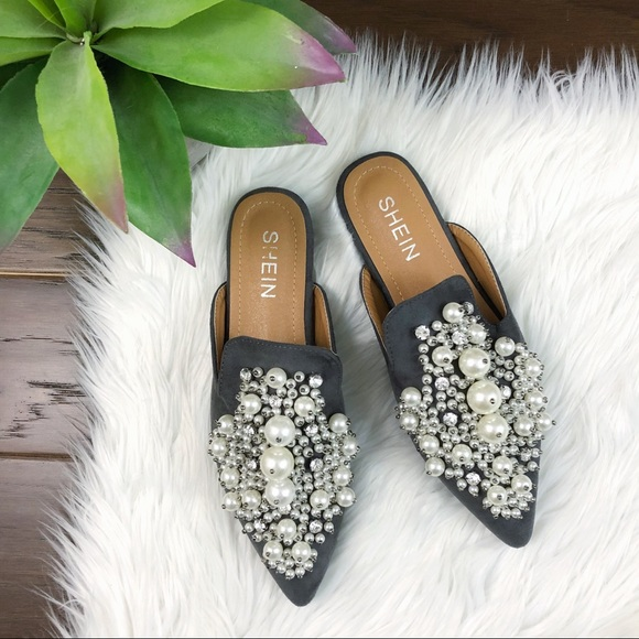 6d484750 SHEIN Shoes | Pointy Tie Loafer Slides Faux Pearl | Poshmark